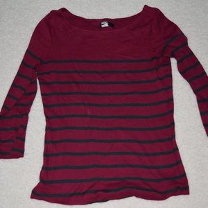 BDG Tops - BDG Urban Outfitters Red and Black Striped Top
